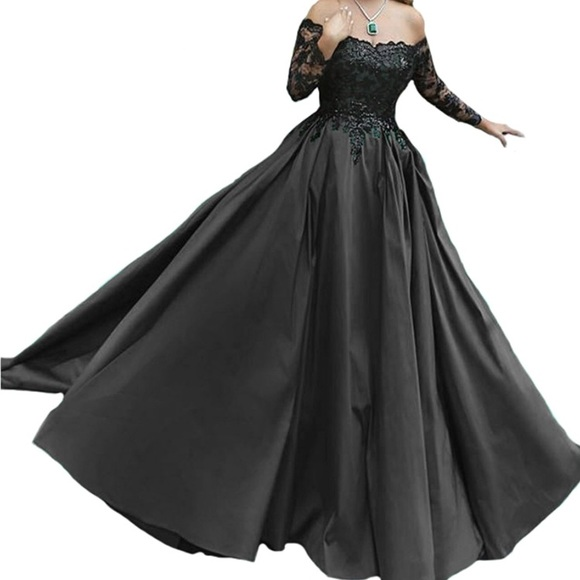 Dresses | Size 20 Black Ball Gown Worn Once | Poshmark